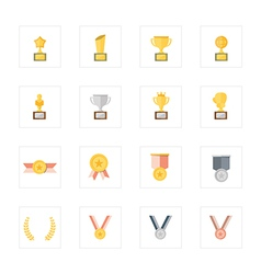 Icon Trophy and Medal vector image