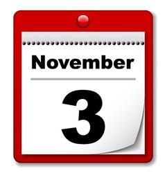 tear-off day calendar vector image