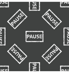 Rubber stamp pause pattern vector