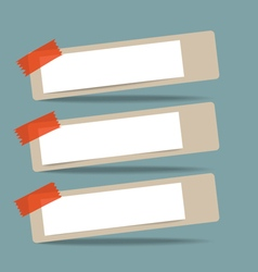 Empty note papers ready for your message vector
