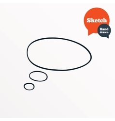 Hand drawn speech bubble talk symbol vector