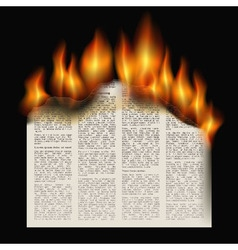 Burning newspaper vector