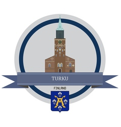 Turku vector image
