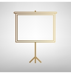 Blank projection screen vector