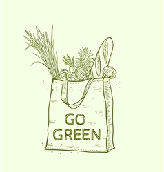 Reusable shopping eco bag vector