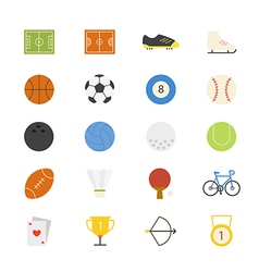 Sport flat icons color vector