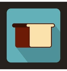White bread icon in flat style vector