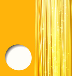 abstract orange background with lines vector image vector image