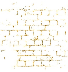 Brick wall gold texture pattern white vector