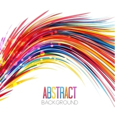 Colorful abstract line vector image