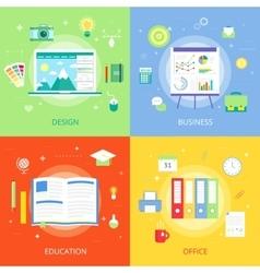 Concepts creative process graphic design vector