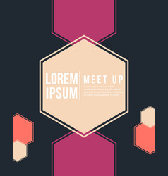 Cool colorful background meet up style card vector