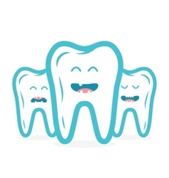Dental collection with teeth characters vector image
