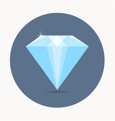 diamond icon simple symbol with shadow vector image vector image