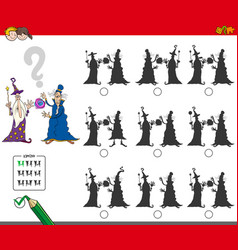 educational shadow game with wizards vector image vector image