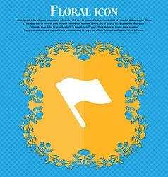 Finish start flag floral flat design on a blue vector