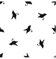 florida map pattern seamless black vector image