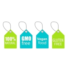 Gmo Free 100 Natutal Vegan Food and Gluten Free vector image vector image