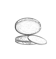 Hand drawn powder vector image