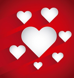 heart love design vector image