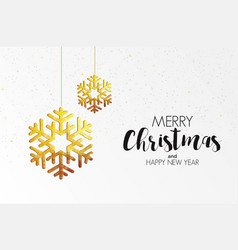 holiday christmas card made from triangles 3 vector image