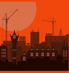 industrial european vintage styled city under vector image