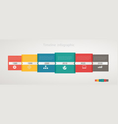 infographic timeline with icons step by step vector image vector image