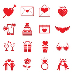 Love Objects Icons Set vector image vector image