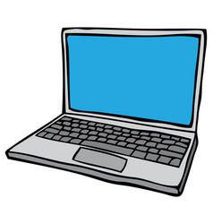 open laptop computer vector image