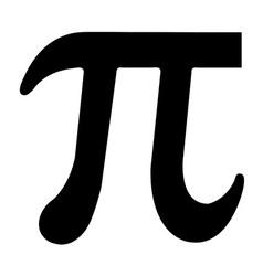 PI symbol vector image vector image