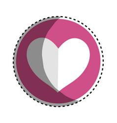 Pink symbol heart decorative vector