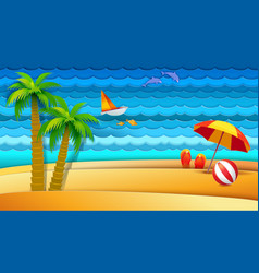 Sea and bech holidays vector