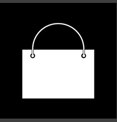 Shopping bag white color icon vector