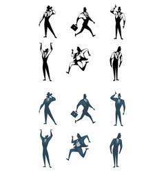 six businessman set vector image