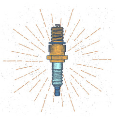 spark plug logo design template vector image vector image