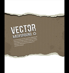Paper ripped vintage background vector image