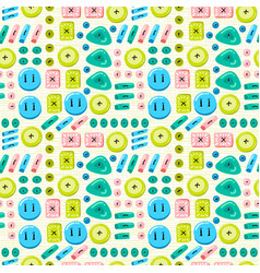 Buttons seamless pattern background with buttons vector