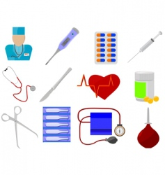 medicine and health vector image