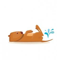 sea otter vector image