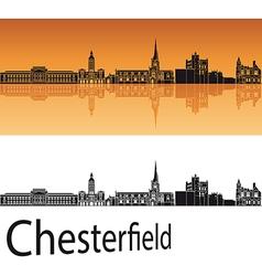 Chesterfield skyline in orange background vector image