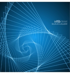 Abstract background with glowing spiral vector