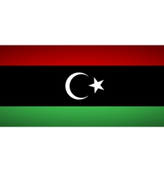Flag of libya vector
