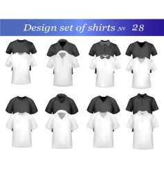 design set with many shirts vector image