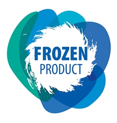 Blue logo for frozen products vector
