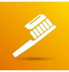 Toothbrush with paste brush icon isolated vector