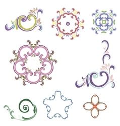Beautiful floral ornament elements vector