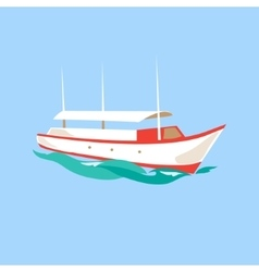 Leisure ship on the water vector