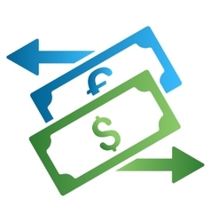 Currency exchange gradient icon vector