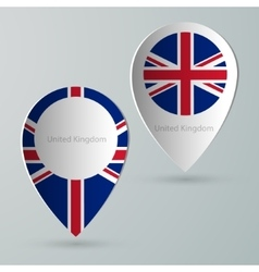 Paper of map marker for maps united kingdom vector