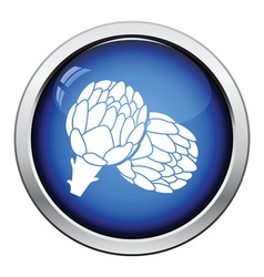 Artichoke icon vector